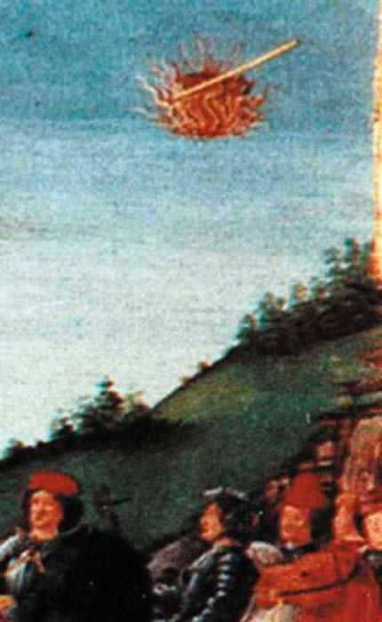 Tapiz medieval - Contemplación de Santa Geremia - cerca de la esquina superior derecha. (Hurley / dominio público)