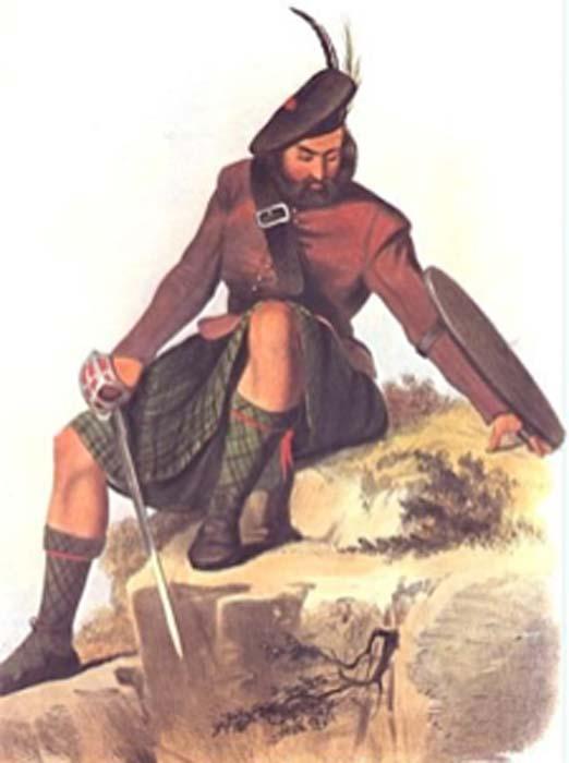 Una época victoriana ilustración romántica de un miembro del clan MacKay. (Angusmclellan / Dominio público)