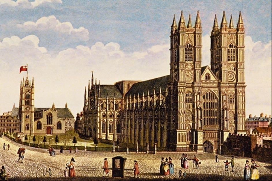 La Abadía de Westminster, acuarela de Thomas H. Shepherd (1792-1864). (Public Domain)