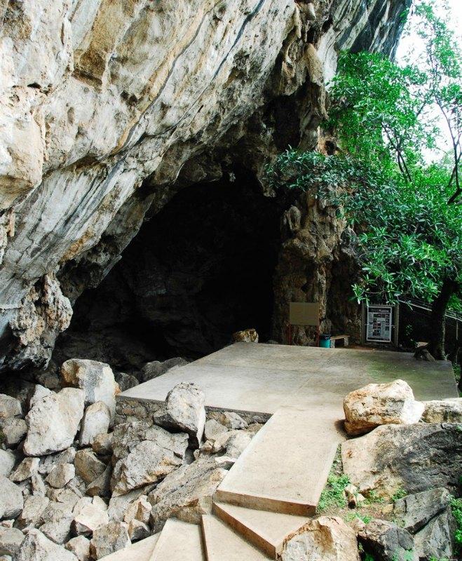 La cueva está formada por dos grutas, y sus pinturas ocupan unos 200 metros cuadrados en total. (Fotografía: Julio Bronimann/INAH)
