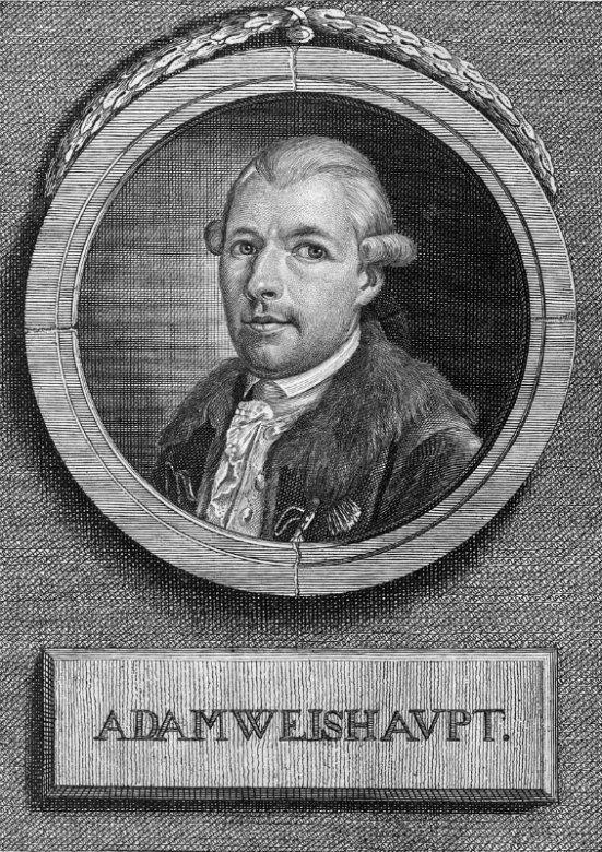 Retrato de Adam Weishaupt, fundador de la orden de los Illuminati de Baviera. (Public Domain)