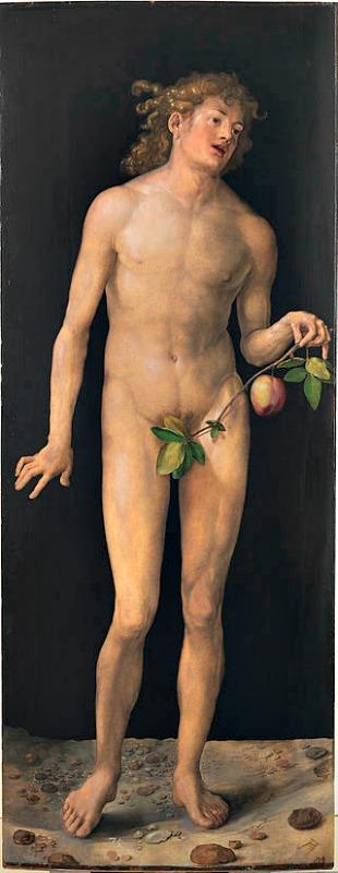 Representación de Adán, (1507). Óleo de Alberto Durero (1471-1528). Museo del Prado, Madrid, España. (Public Domain)