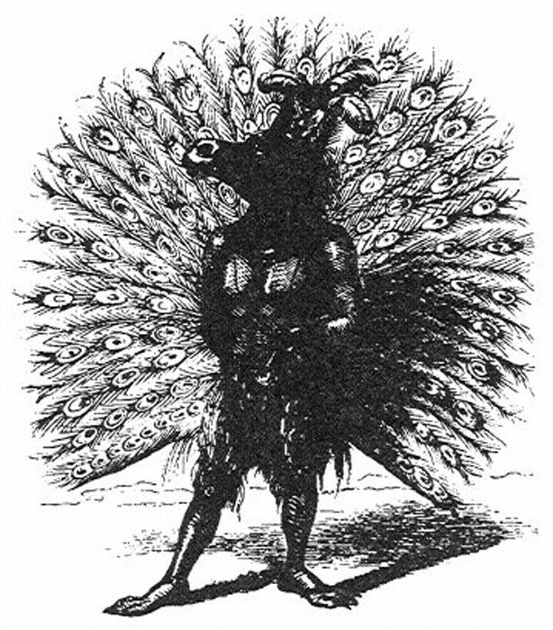 Adramelec, ilustración del Diccionario Infernal (Public Domain)