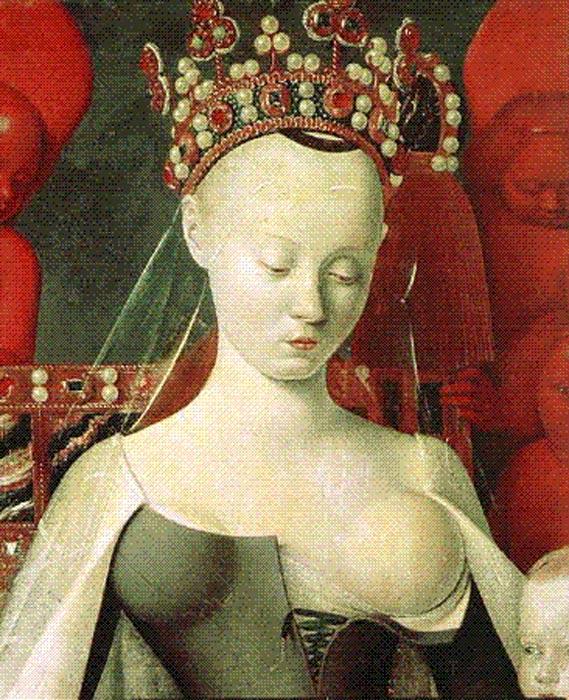 Agnès Sorel retratada como 'Madonna Lactans' (Public Domain)