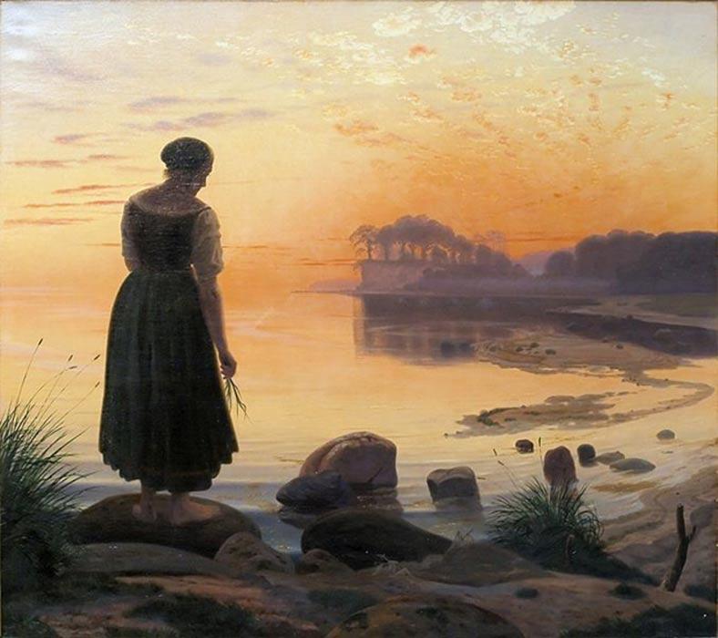 """Agnete og Havmanden"" (c. 1862), óleo de Vilhelm Kyhn. (Public Domain)"