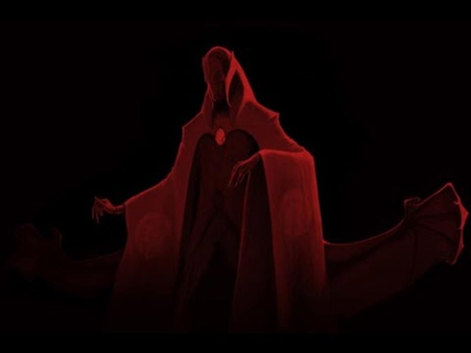 Representación artística del espíritu de Aka-Manto. (YouTube Screenshot)