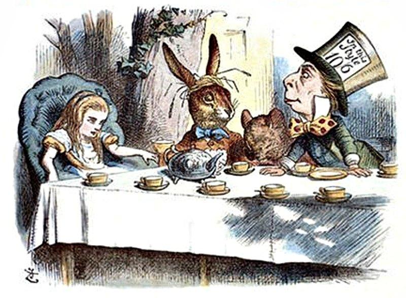 Muchos investigadores se inspiran en los personajes y situaciones 'carrollianas' para explicar teorías y bautizar descubrimientos. Ilustración de John Tenniel de la primera edición de 'Alicia en el País de las Maravillas', publicada en el año 1865. (Public Domain)