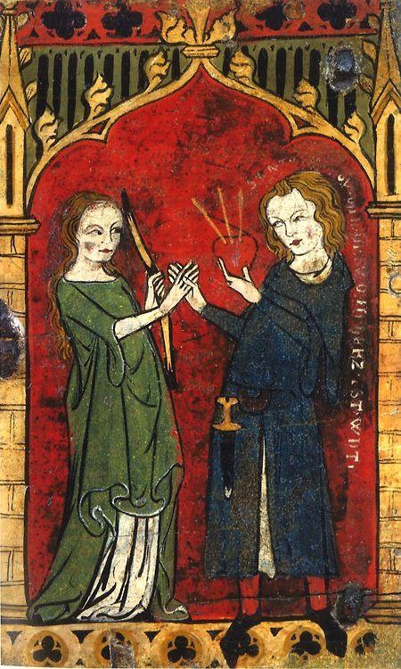 En este cofrecillo del siglo XIV podemos observar una escena en la que un hombre entrega su corazón a la Dama del Amor. (Museo Metropolitano de Nueva York)