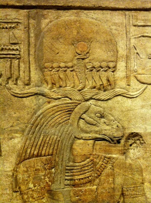 Amón-Ra representado con cabeza de carnero. Museo Ashmolean de Oxford (Joanna Penn / Flickr)