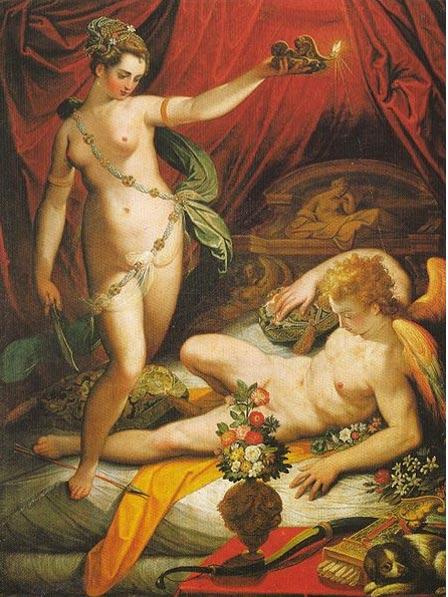 Amor y Psique (1589), óleo sobre el lienzo por Jacopo Zucchi
