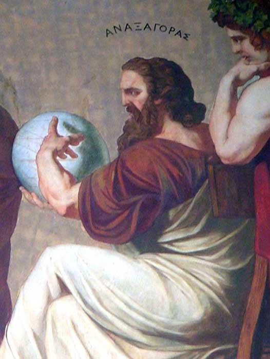 Detalle del fresco de la fachada de la Universidad de Atenas en el que podemos ver a Anaxágoras. (Public Domain)