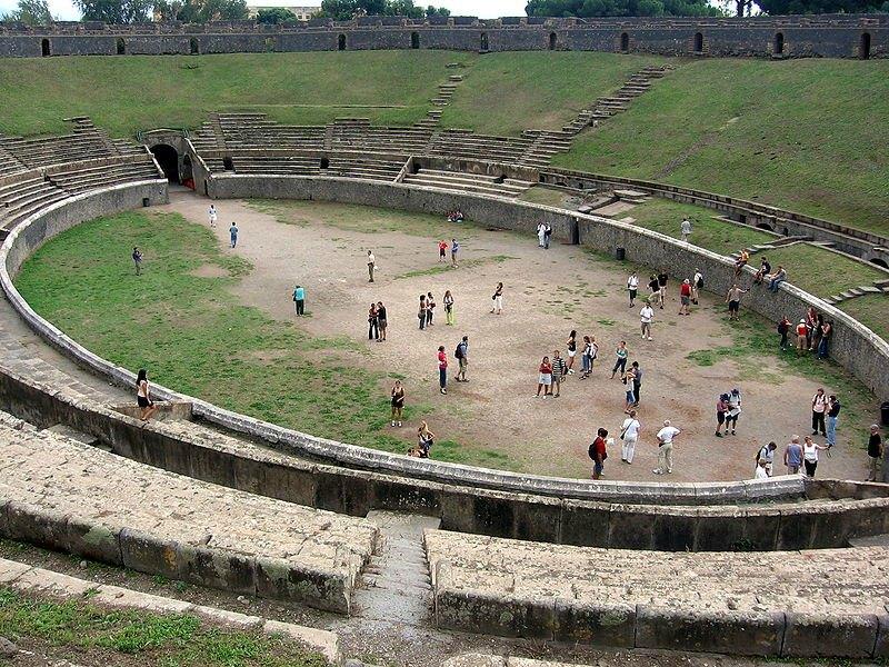 El Anfiteatro de Pompeya. (Public Domain)