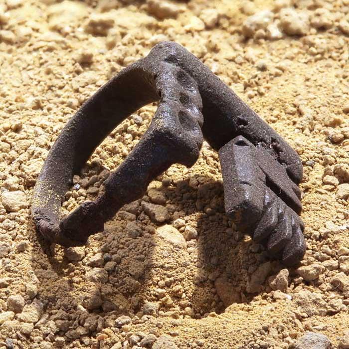 Anillo de bodas romano con forma de llave. Este anillo era de hierro y lo llevaba la esposa. (Rama/CC BY SA 2.0 fr)
