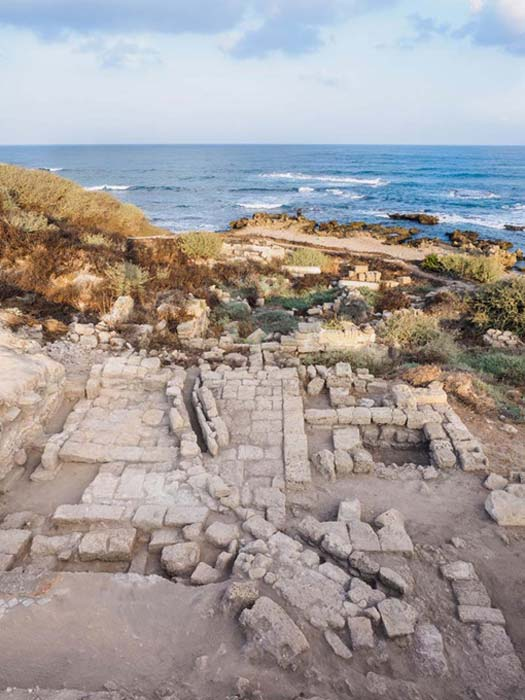 Antigua sinagoga de Cesarea. (Assaf Peretz/ Israel Antiquities Authority)