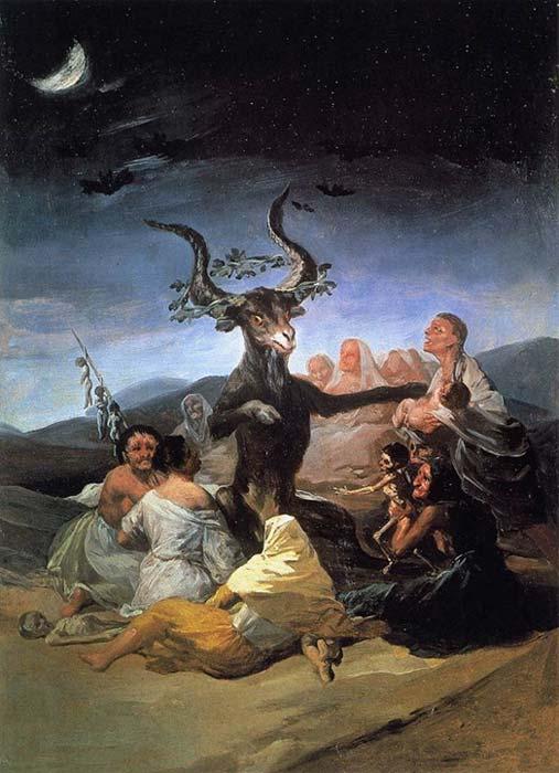 'El aquelarre', óleo de Francisco de Goya (1798) (Public Domain)