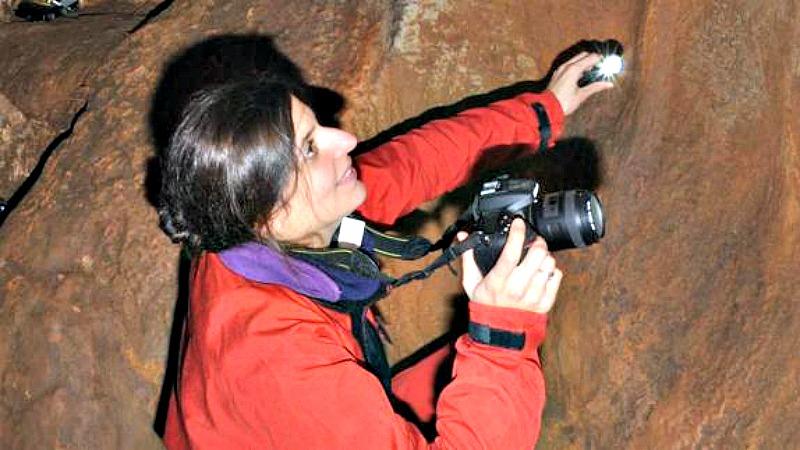 La arqueóloga Olivia Rivero, investigadora del Instituto Internacional de Investigaciones Prehistóricas de Cantabria. (Fotografía: El Diario Montañés)