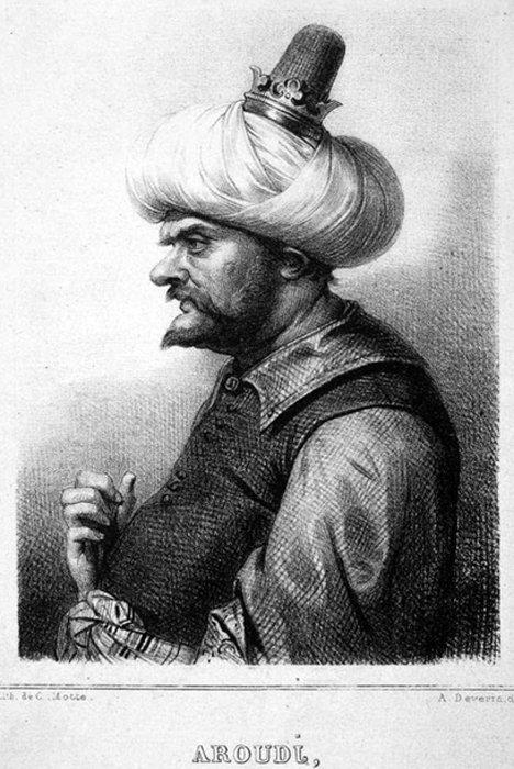 Litografía de Aruj Barbarroja (Public Domain)