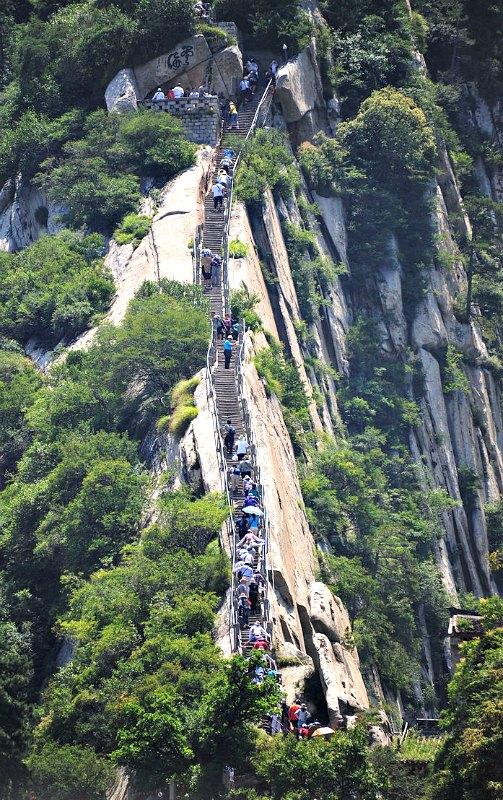 El ascenso al monte Hua siempre ha tenido fama de ser muy peligroso. (Public Domain)