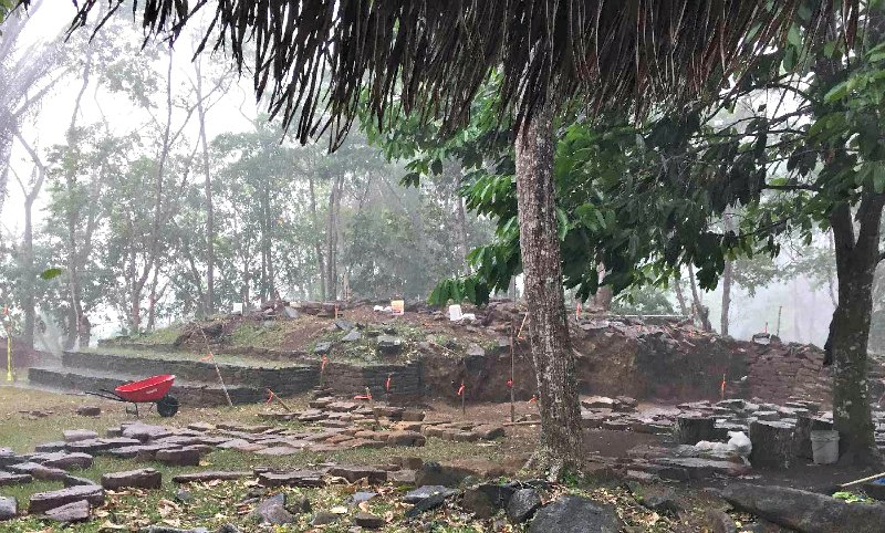 Antiguo asentamiento maya de Nim Li Punit, en Belice. (Fotografía: UC San Diego Publications)