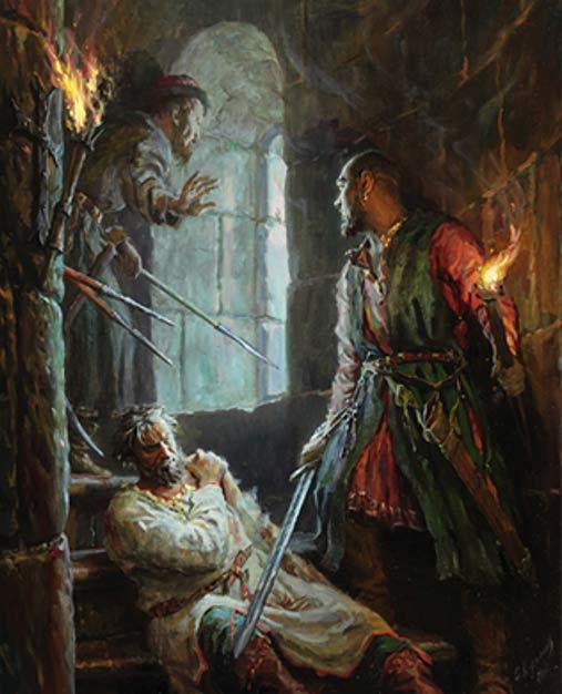 El asesinato de Andrei Bogolyubski, obra de Sergei Kirillov (russiapedia.rt.com)