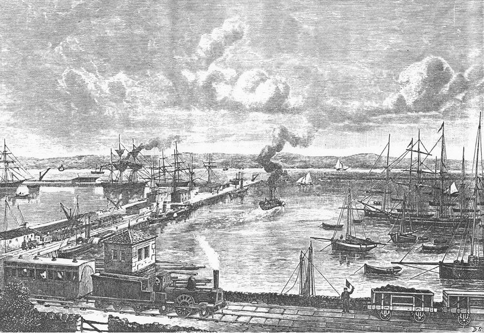 Astilleros de Granton, Edimburgo, cerca de Newhaven, década de 1860 (Public Domain)