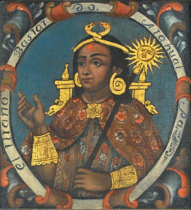 Atahualpa, Decimocuarto Emperador Inca. Public Domain