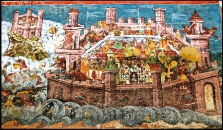 Ataque Ávaro sobre Constantinopla (Tarihiistanbul.com)