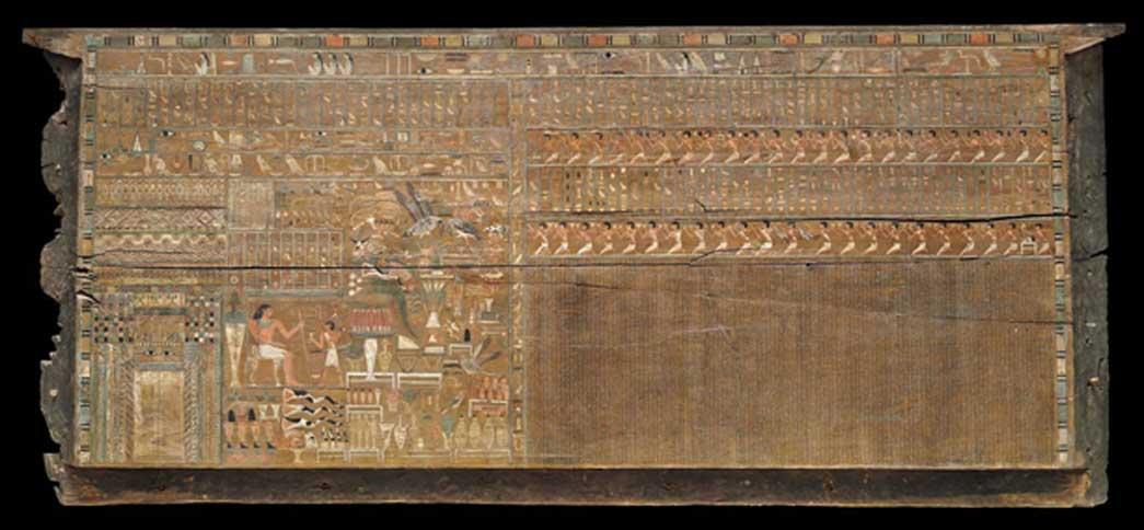 Panel frontal del exterior del ataúd de Bersha, 2010 a. C. – 1961 a. C. Crédito: Museo de Bellas Artes de Boston