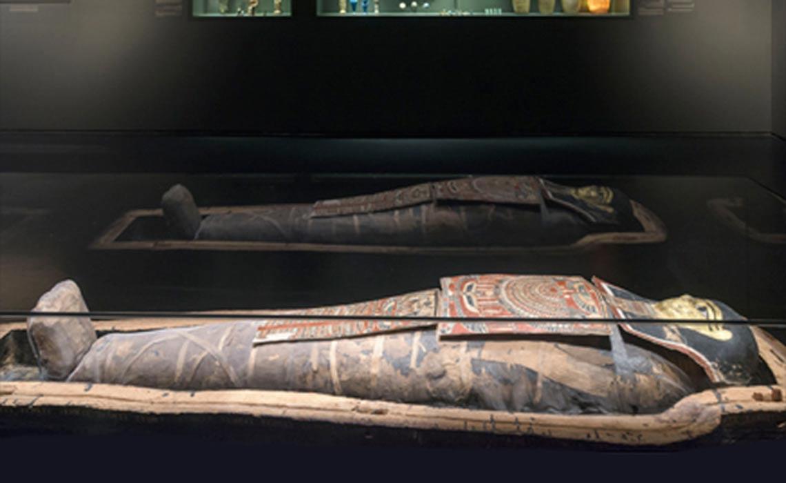 La momia egipcia expuesta en el Museo de Israel de Jerusalén. Fotografía: Museo de Israel