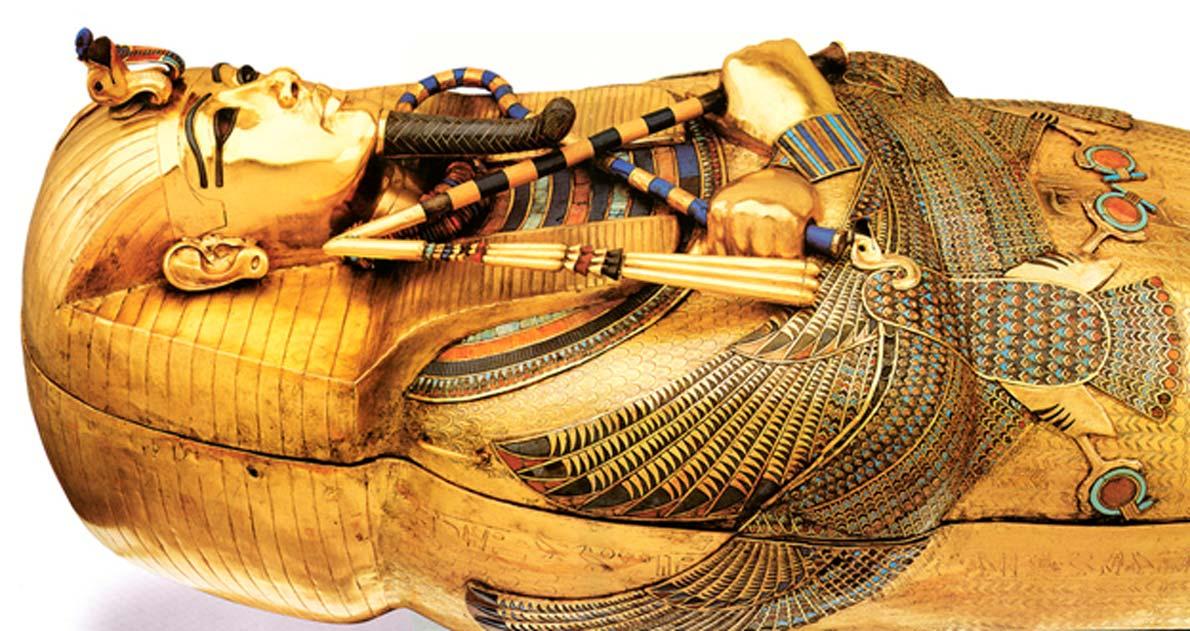 El ataúd de oro de Tutankamón. (Asaf Braverman / flickr)