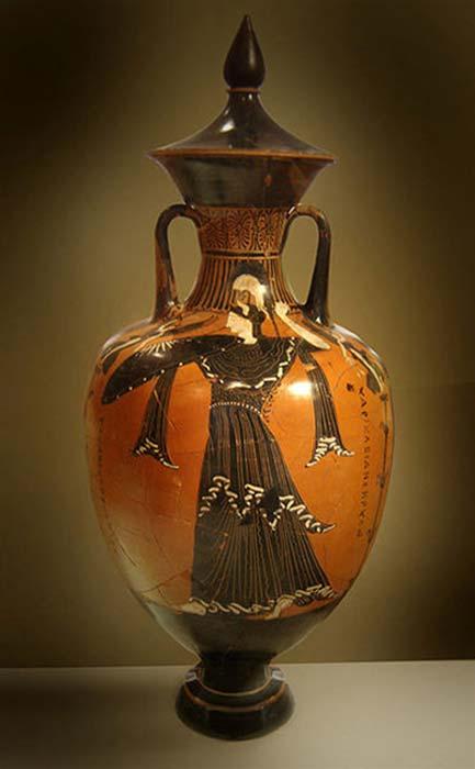 Imagen de Atenea pintada en un ánfora panatenaica, Museo Arqueológico Nacional de Atenas. (Cropbot/CC BY-SA 3.0)