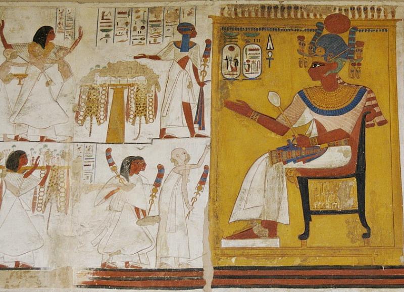 Ramsés II durante una audiencia concedida a un grupo de nobles. XIX Dinastía. Museo Británico de Londres, Inglaterra. ( Soutekh67/CC BY-SA 4.0)
