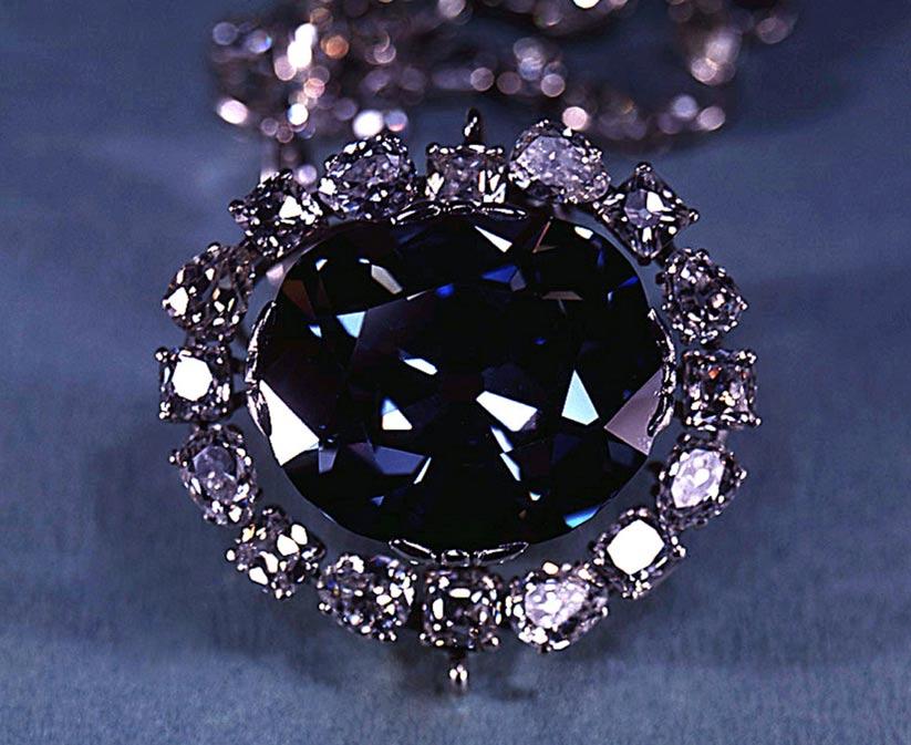El diamante Hope en el año 1974. (Archivos de la Institución Smithsoniana)