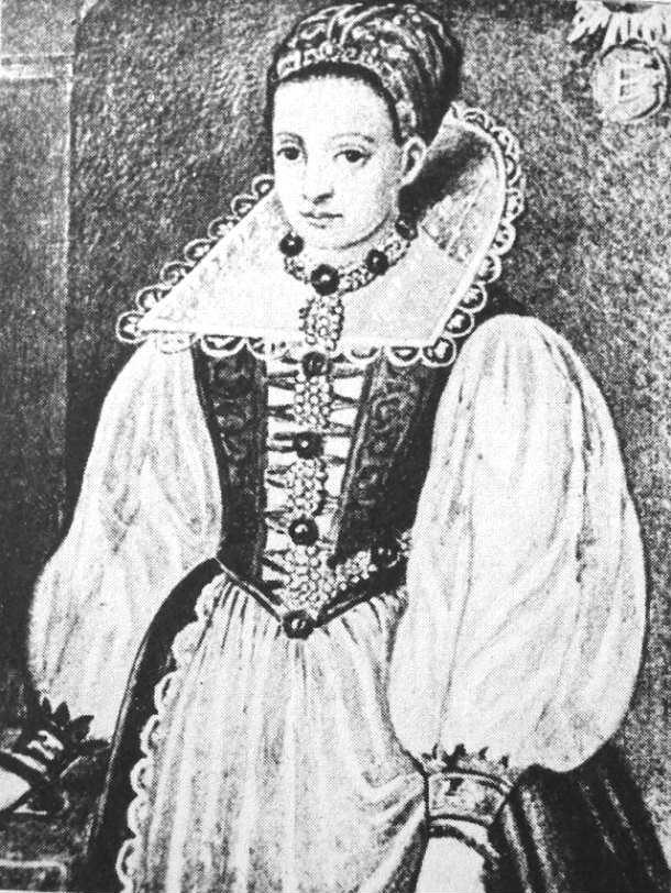 Retrato de la Condesa Erzsébet Bathory en su juventud (Wikimedia Commons)