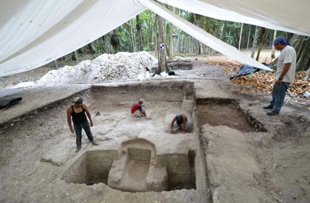 En un principio se creyó que el baño era una tumba, hasta que el sistema completo fue descubierto. (Imagen: Koszkul W/PAP)