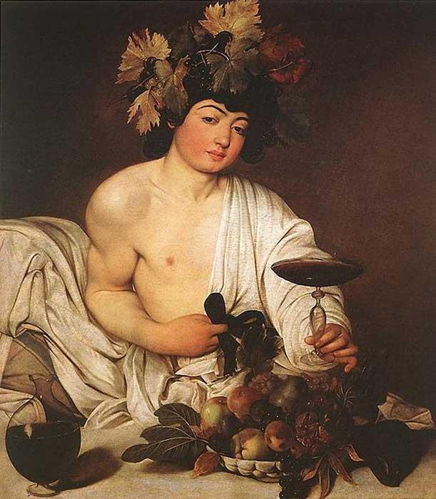 El 'Baco' de Caravaggio. (Public Domain) Baco era el dios romano del vino.