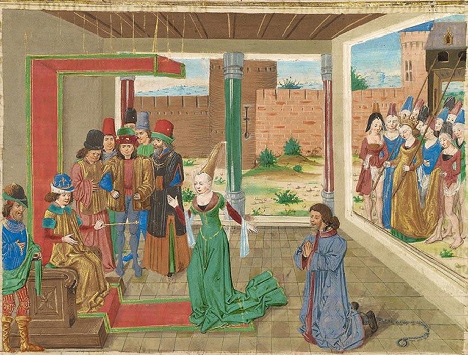 'Bagoas suplica en nombre de Nabarzanes' (Public Domain)