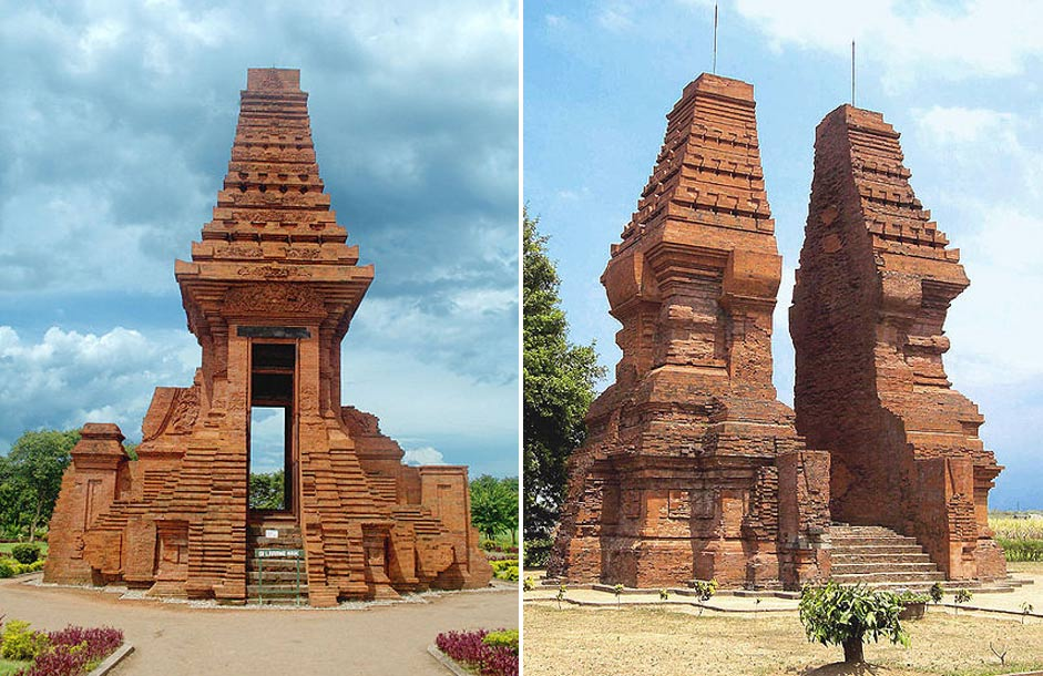 Las Puertas de Bajang Ratu y Wringin Lawang, dos ejemplos de la Arquitectura Majapahit, Trowulan, Java Oriental, Indonesia (Wikimedia Commons)