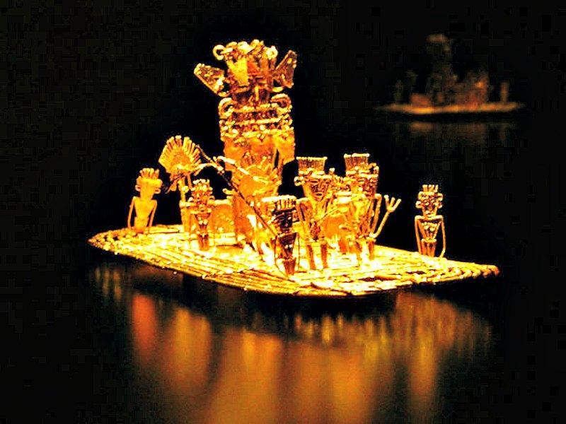 En la leyenda no todo es ficción. En la imagen, la famosa Balsa Muisca, un rico elemento de orfebrería precolombina votiva que alude a las ceremonias sagradas que dieron origen a la legendaria ciudad de El Dorado. (Andrew Bertram/CC BY-SA 1.0)