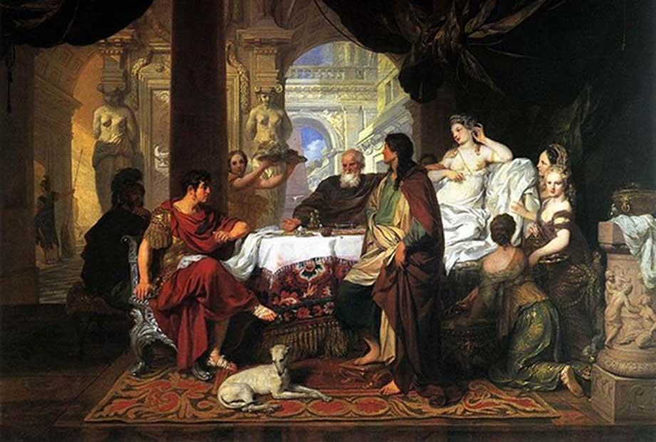 Banquete de Cleopatra. Óleo de Gerard de Lairesse. (Dominio público)