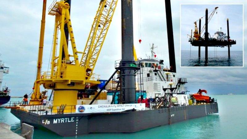 El Myrtle, un barco muy especial que se asemeja a una plataforma petrolífera. (Fotografía: El Mundo/D.SMITH/ECORD/IODP)