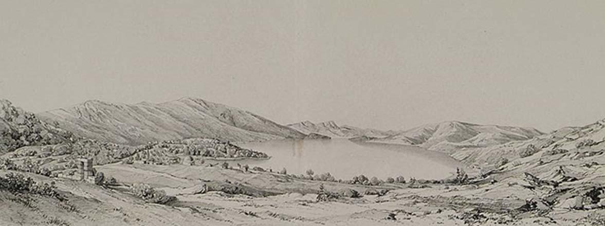 Bargilia en 1838 por Léon de Laborde. (Dominio público)