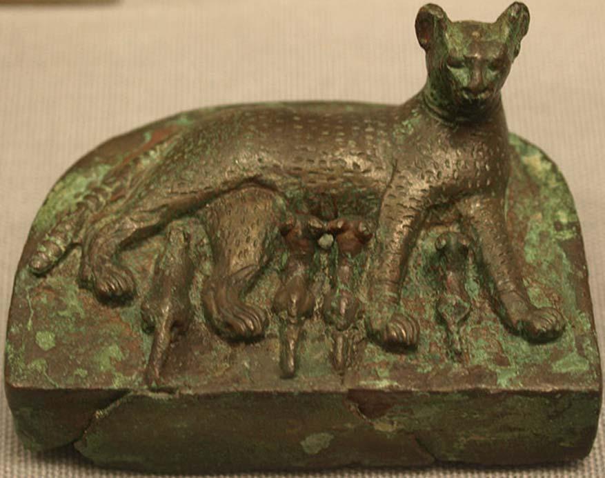 Bastet amamanta a sus gatitos. Museo de Historia del Arte de Viena (CC BY SA 3.0)