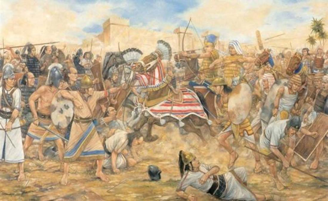 'La batalla de Megido, 609 a. C.' (CC BY SA 3.0)