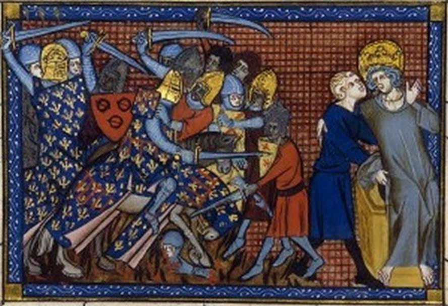Batalla de Al Mansurah: Luis IX e Ysembart le Queu. (Dominio público)