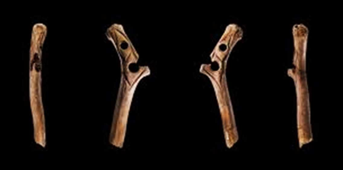 Ejemplo de 'bâton percé' de la época Magdaleniense hallado en Francia. (CC BY 3.0)