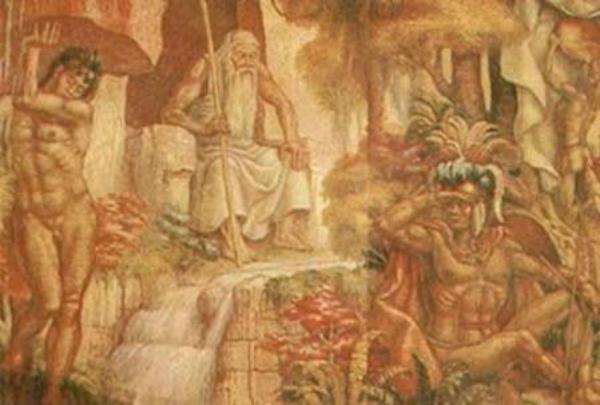 Bochica sentado en su trono (Código Oculto)