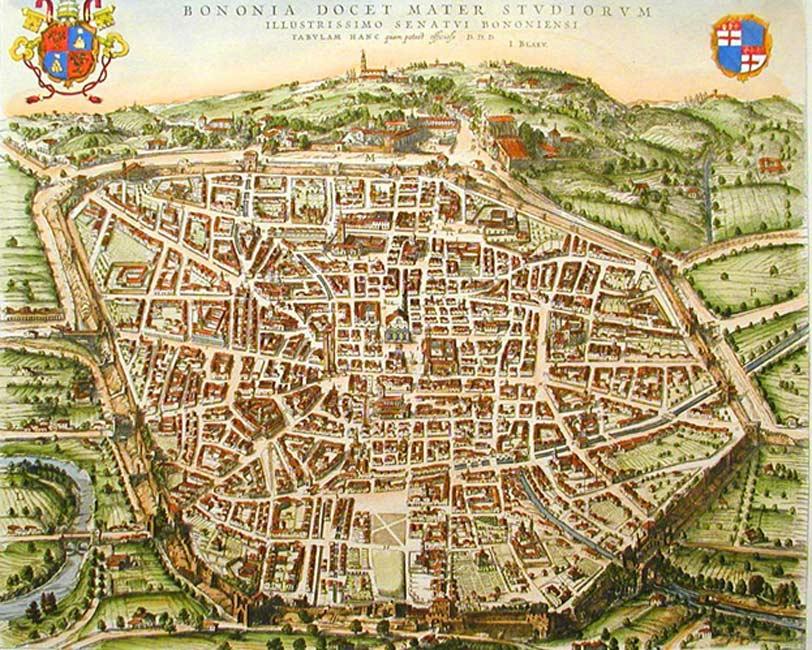 La Bolonia medieval (Public Domain)
