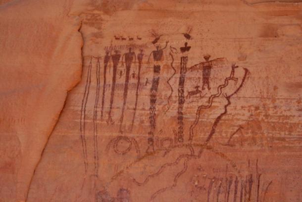 Detalle del pictograma de Buckhorn Draw, también de la cultura Fremont, en la protuberancia de San Rafael, condado de Emery, Utah (Foto: Kerk / Wikimedia Commons)