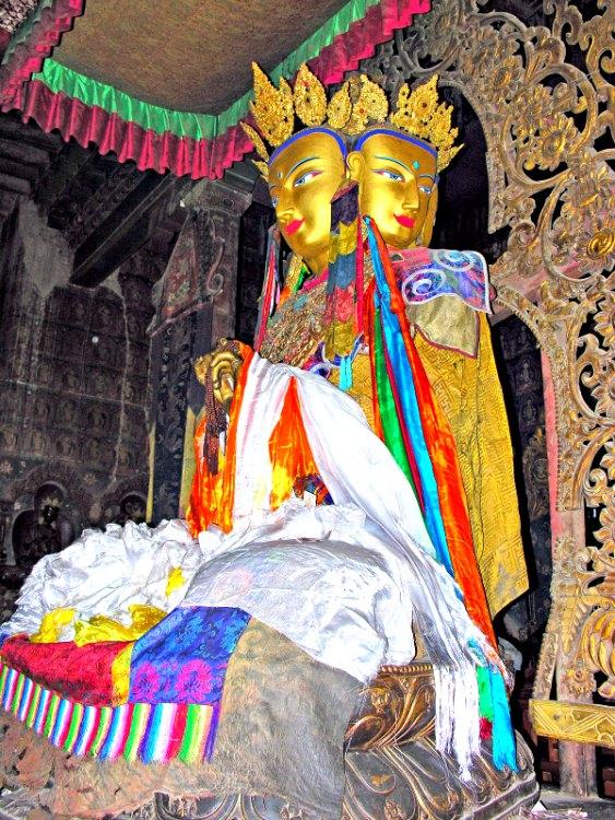 Buda del Monasterio Baiju, Gyantse, Tíbet. (Dennis Jarvis/CC BY-SA 2.0)